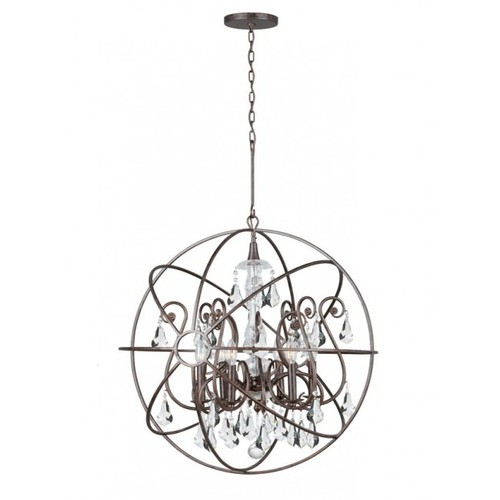 Rustic contemporary chandelier